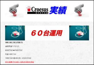 Croesus Systemの実績