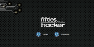 フィフティーズハッカーのトップ画面