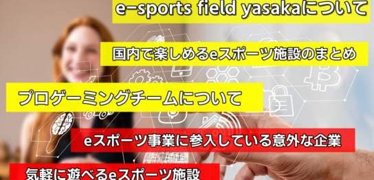 e-sports field yasakaについてや国内で楽しめるeスポーツ施設をまとめてみた!