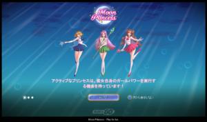 Moon Princessの稼働画面