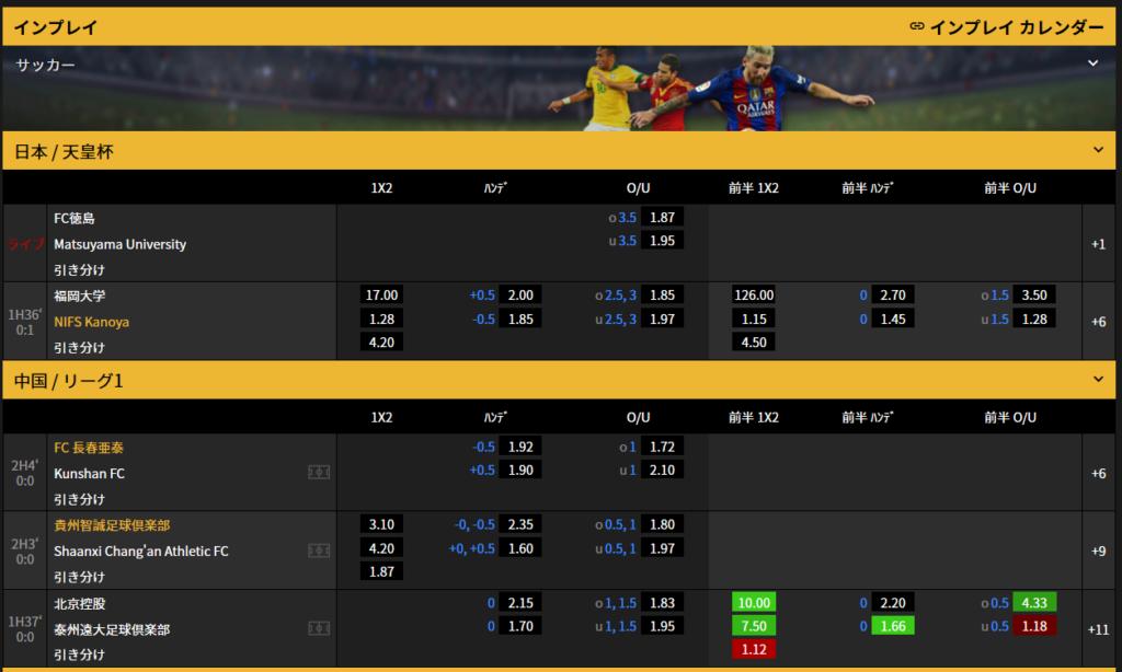 ミニーカジノのインプレイカレンダー