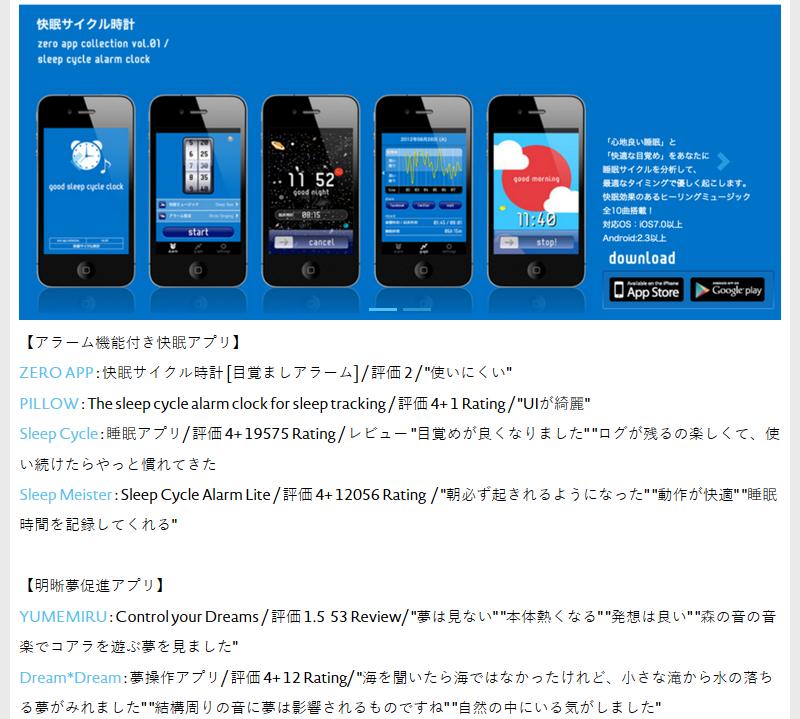 DreamDateは明晰夢誘発アプリ