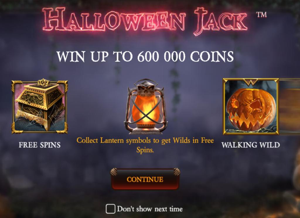 スロットマシンゲーム Halloween Jack