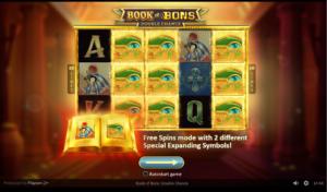 ボンズカジノのBook Of Bonsの画像