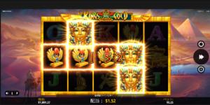 スロットプレイ中(Kings of Gold)