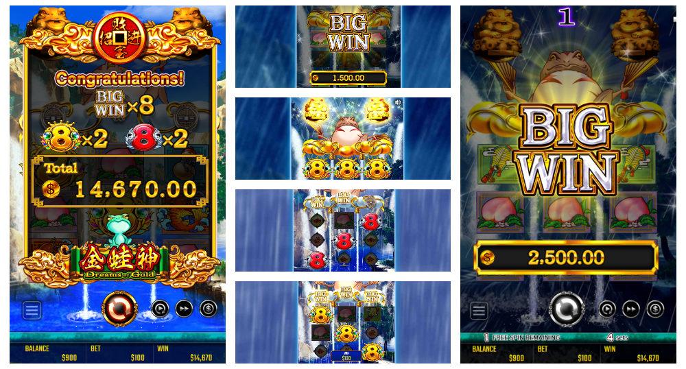 オンラインカジノのスロット ゴールデンドリーム(ドリームオブゴールド)アイキャッチ
