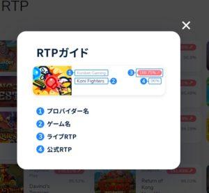 ライブRTP表記の説明